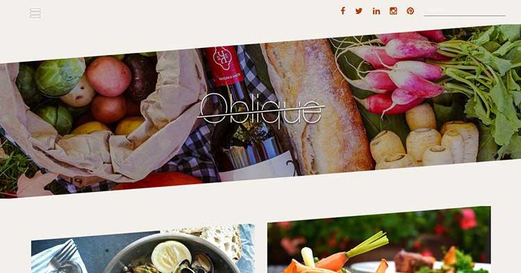 Oblique Pro Masonry WordPress Theme