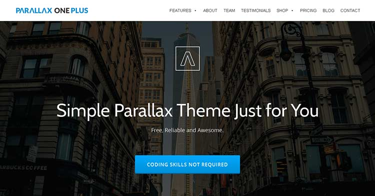 Download Parallax One Plus WP Plugin Theme