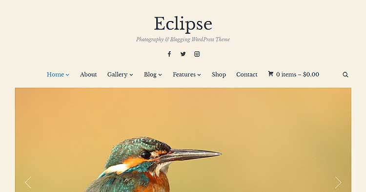 Eclipse Photoblogging WordPress Theme