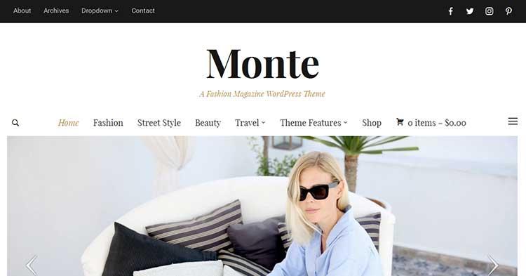 Monte Magazine Blog WordPress Theme