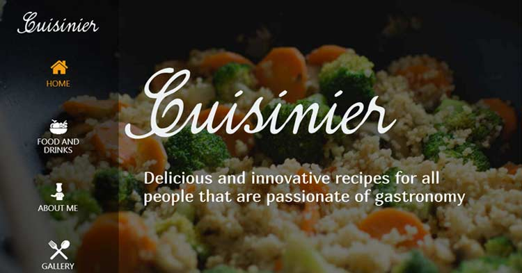 Download Cuisinier Food Blog Recipe WP Theme