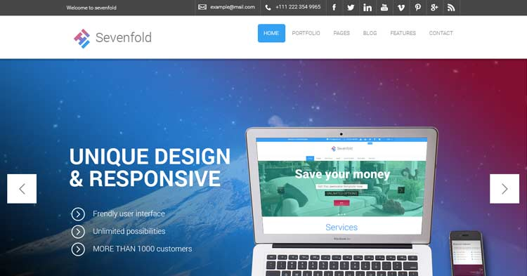 Download Sevenfold Design Firm WordPress Theme