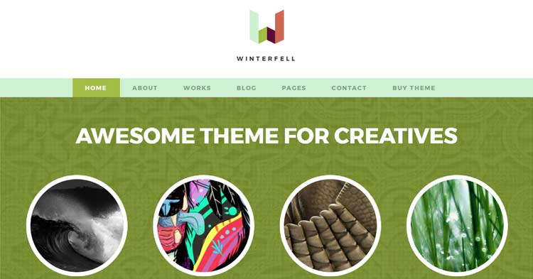 Download Winterfell Creative Blog WP Theme