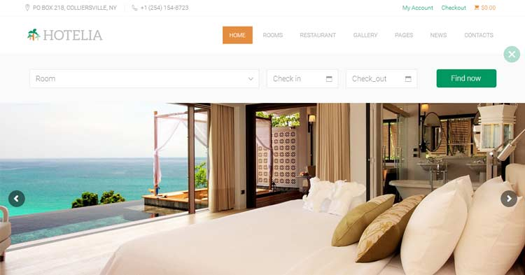Download Hotelia Hospitality WordPress Theme