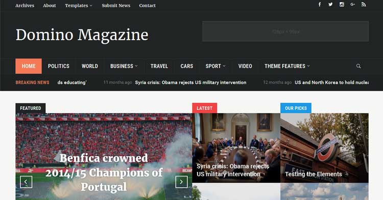 Download Domino Best Magazine WordPress Theme