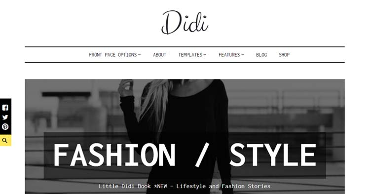 Didi Blogging WordPress Theme
