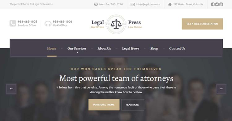 Download LegalPress Lawyer Legal WP Theme