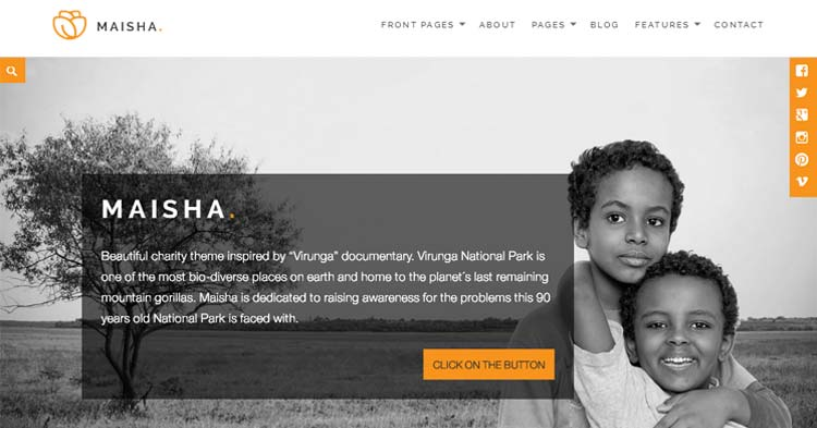 Download Maisha Charity/Non-Profit WP Theme
