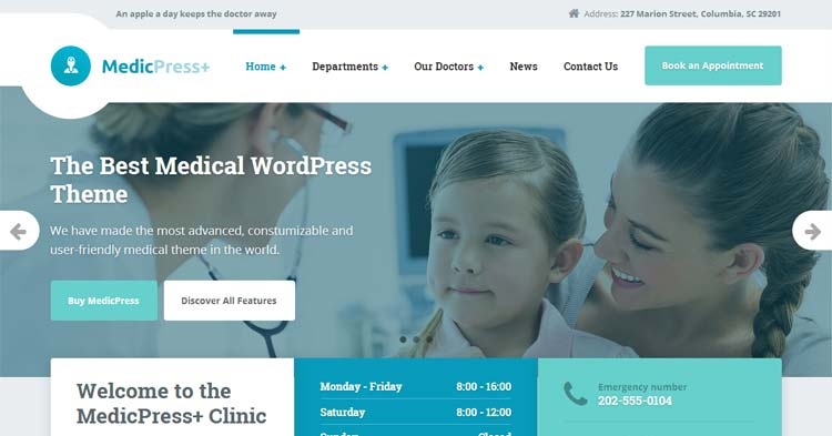 Download MedicPress Medical Clinic WP Theme