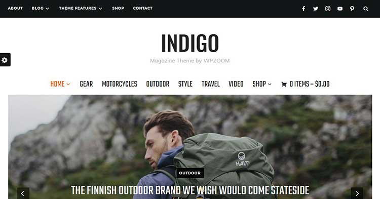 Indigo Magazine WordPress Theme