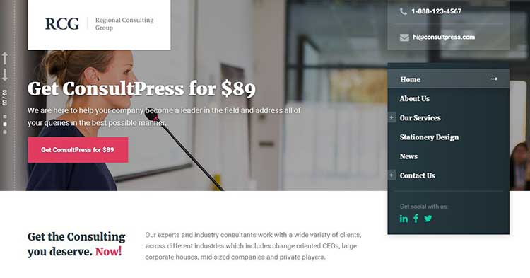Download ConsultPress Consultancy WP Theme