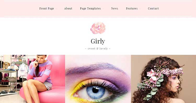 Girly Feminine Blog WordPress Theme