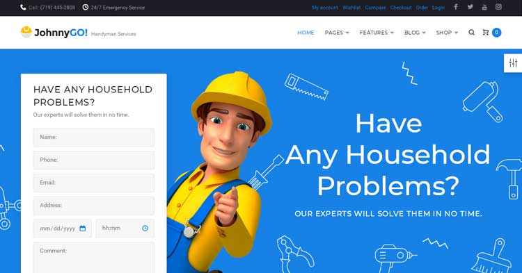 Download JohnnyGo Multipurpose WordPress Theme