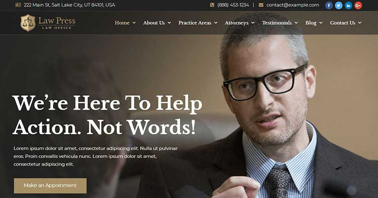 Download LawPress Lawyer Attorney WP Theme