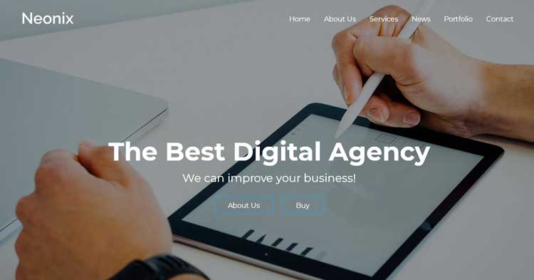 Download Neonix Digital Agency WordPress Theme