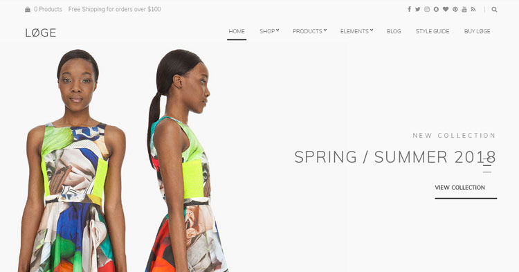 Loge Fashion WordPress Theme