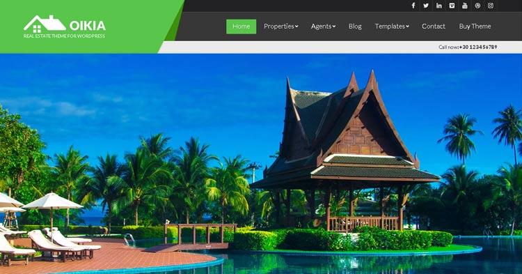 Oikia Real Estate WordPress Theme