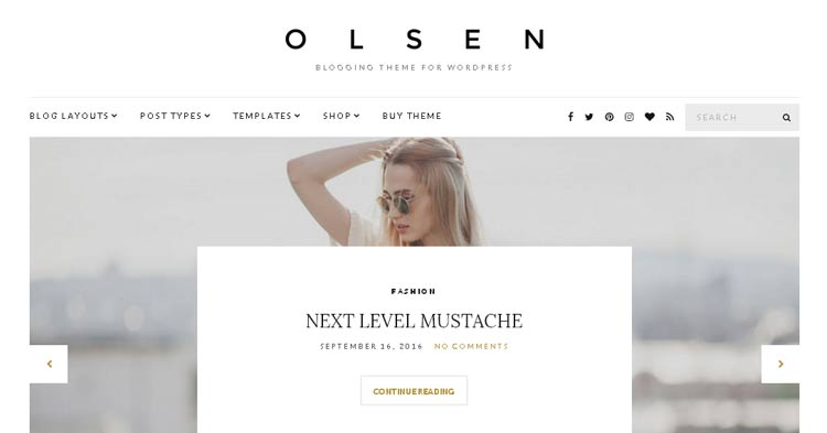Download Olsen WordPress Blogging Theme