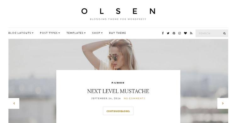 Olsen WordPress Blogging Theme