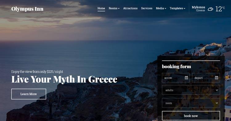 Download Olympus Inn Hotel WordPress Theme