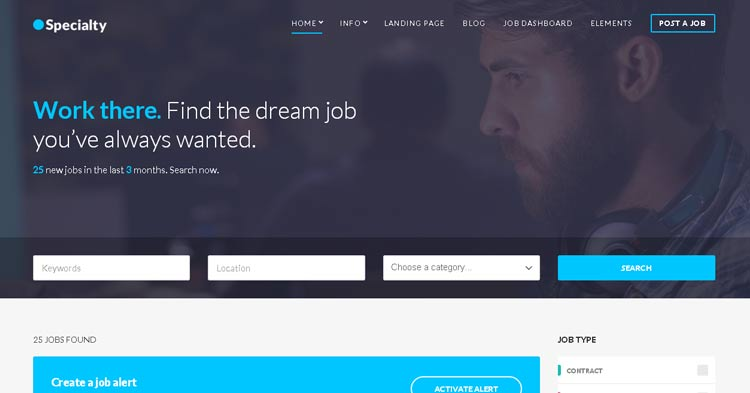 Download Specialty Job Board WordPress Theme