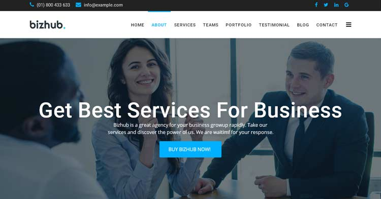 Download Bizhub One Page Joomla Template