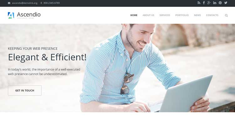 Download Ascendio Corporate Drupal Theme