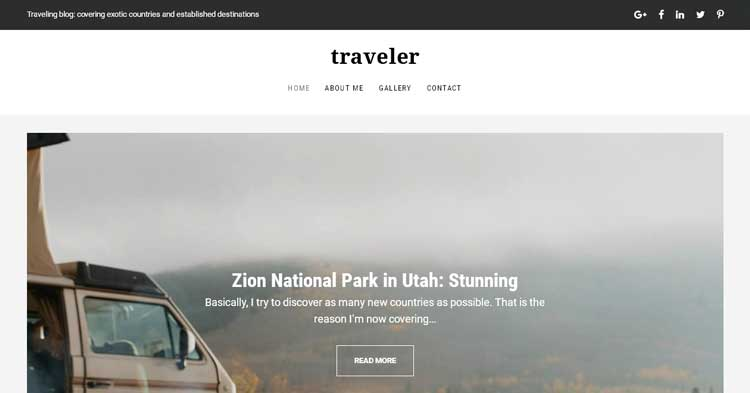 Traveler Travel Blog Drupal Theme