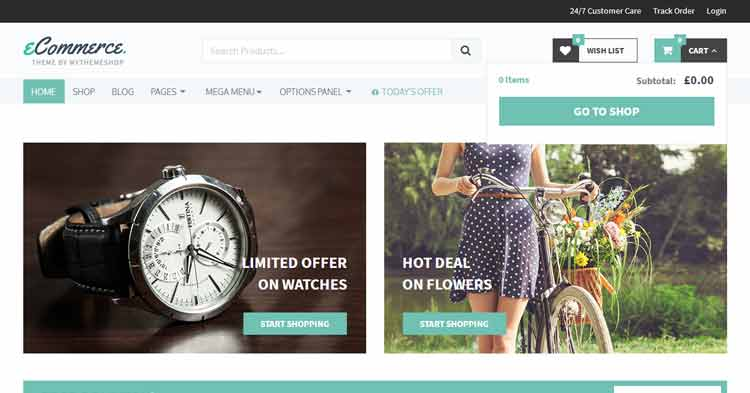 Download eCommerce Online Shop WordPress Theme