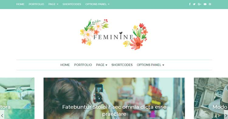 Feminine Girly Lifestyle WP Theme