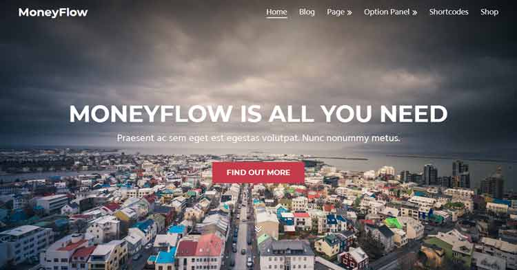MoneyFlow Blogging WordPress Theme