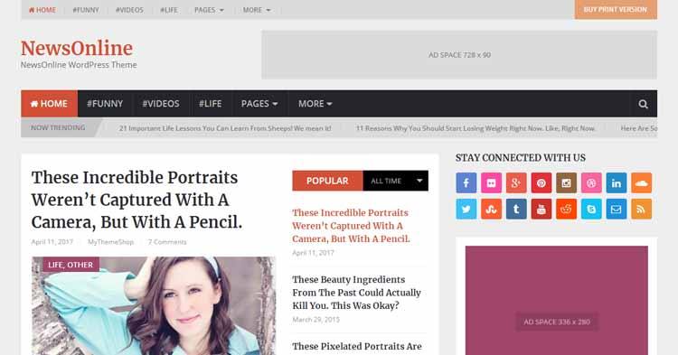 Download NewsOnline Magazine WordPress Theme
