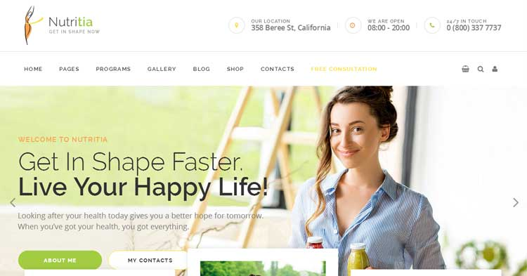 Nutritia Health & Nutrition WP Theme