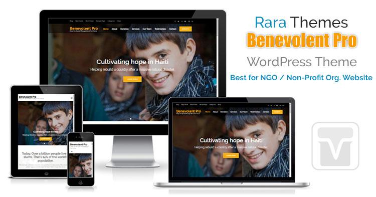 Download RaraThemes - Benevolent Pro WordPress Theme for all charity, Non-profit organization, church, donation or fund-raising websites