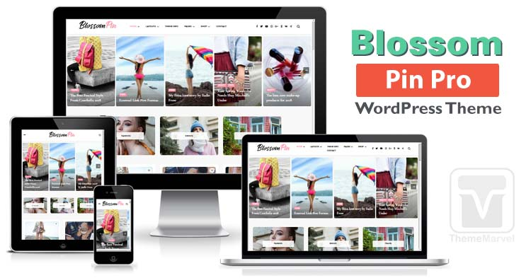 BlossomThemes - Download Blossom Pin Pro WordPress Theme for creating Pinterest style blogs