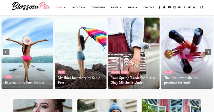 Blossom Pin Pro Pinterest like WP Theme