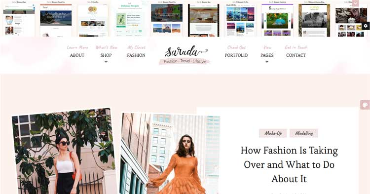 Sarada Lifestyle Fashion Blog Theme