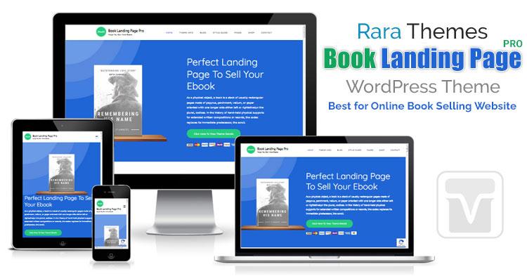Download RaraThemes - Book Landing Page Pro - [Unique] Online Book Selling WP Theme