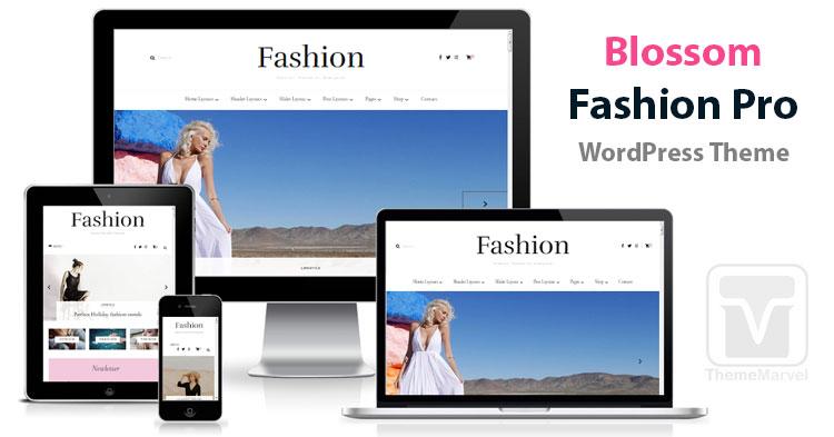 Blossom Fashion Pro Fashion Blog, Lifestyle Blog, Travel Blog, Coaching Blog, Food Blog / Recipe Blog WordPress theme download