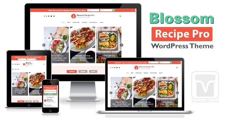 Download BlossomThemes - Blossom Recipe Pro WordPress Theme for Food Bloggers, Food Blogs, Recipe Blogs