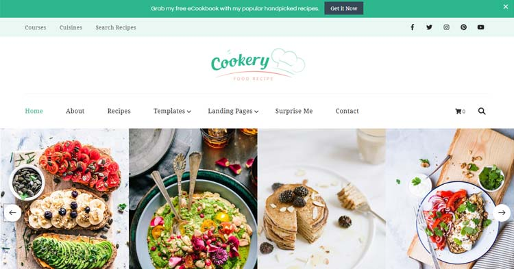 Cookery Recipe Lead Generating WP Theme