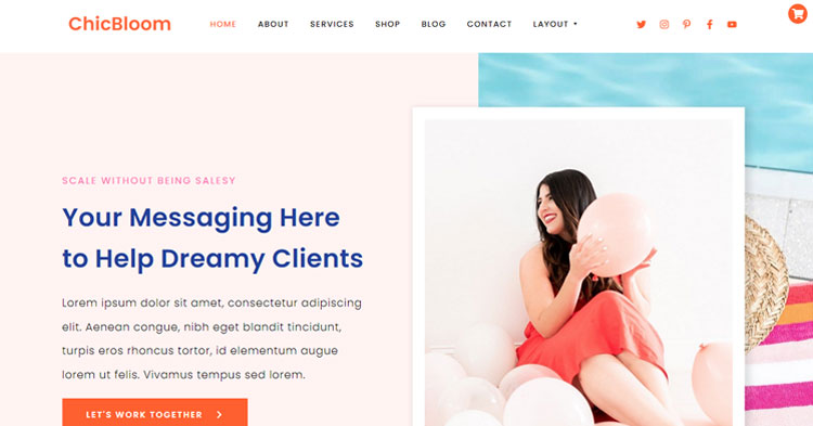 Download ChicBloom Creative Entrepreneurs WP Theme
