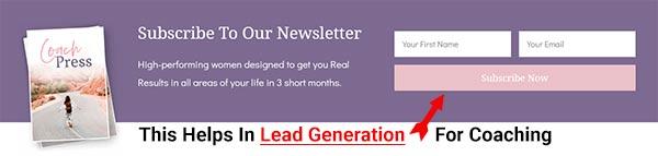 CoachPress theme has unique Lead Generation abilities