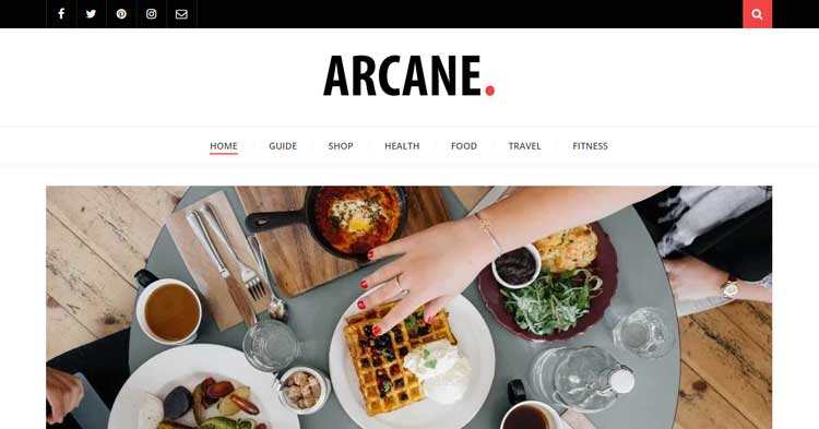 Arcane Magazine Blog WordPress Theme