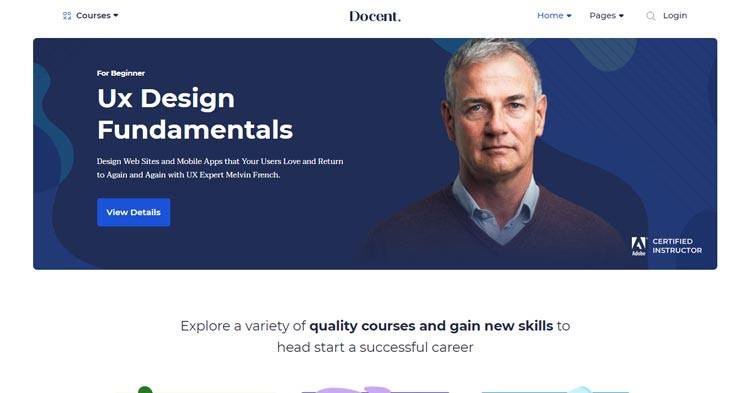 Download Docent Pro Single Instructor LMS Theme