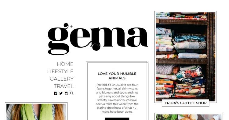 Download Gema Personal Blog WordPress Theme