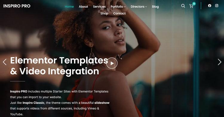 Download Inspiro Pro Elementor WP Portfolio Theme