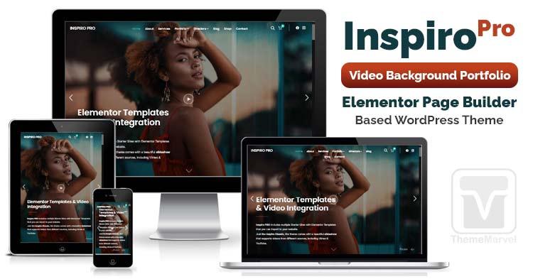 Download WPZoom - Inspiro Pro WordPress Portfolio Theme focused on Elementor Page Builder