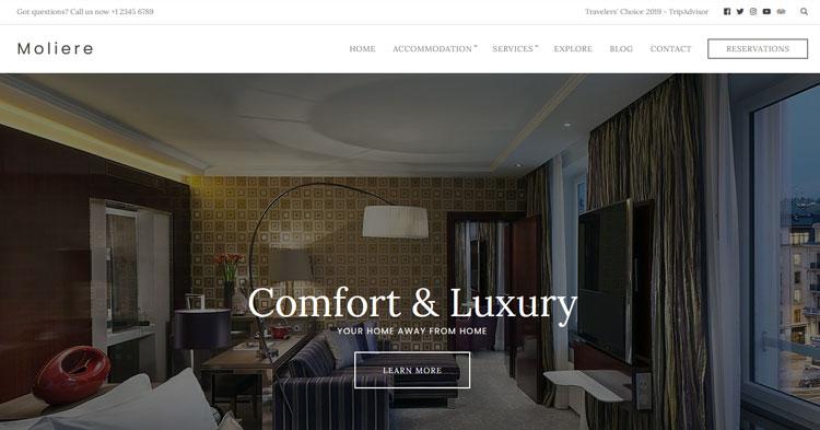 Download Moliere Inn Hotel Room Rental Theme