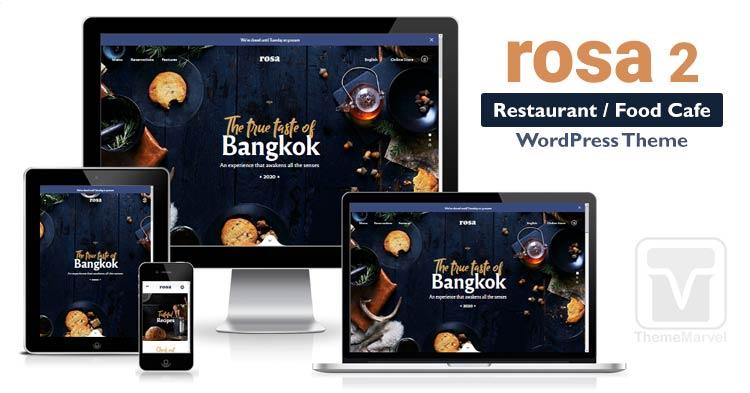 Rosa 2 - the best seller restaurant / cafe WordPress theme